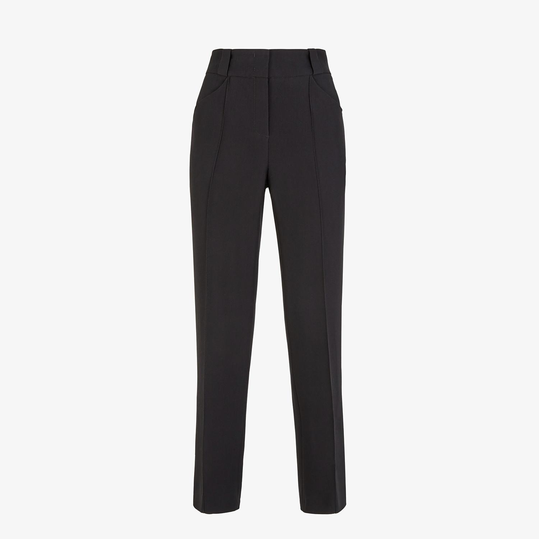 FENDI PANTS - Black viscose pants - view 1 detail