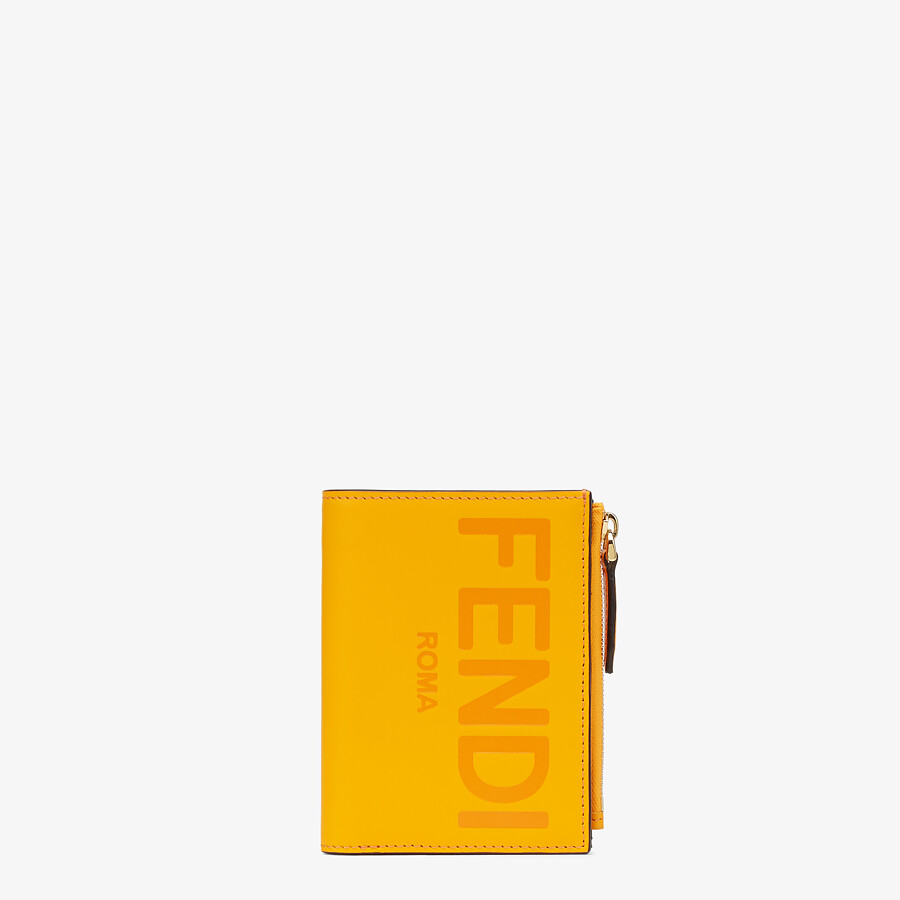 FENDI 財布 ミディアム - オレンジレザー 財布 - view 1 detail