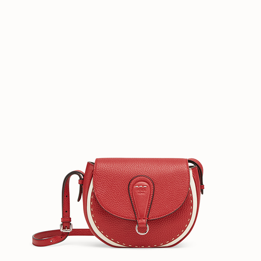 FENDI SHOULDER BAG - Red leather bag - view 1 detail