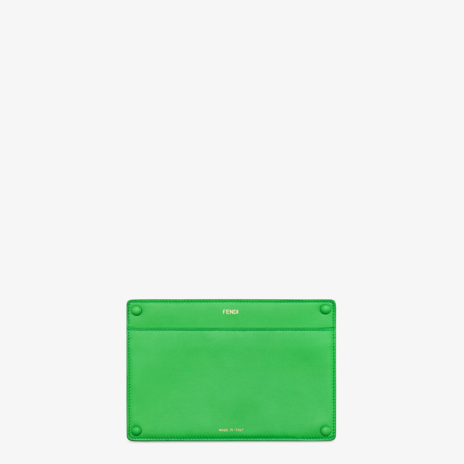 FENDI PEEKABOO ISEEU POCKET - Accessory pocket in green leather - view 1 detail