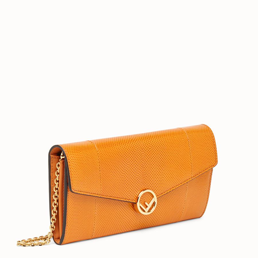 FENDI CONTINENTAL WITH CHAIN - Orange karung wallet - view 2 detail