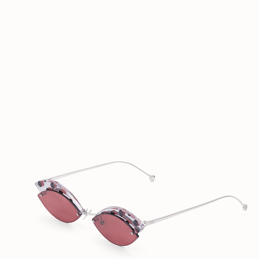 FENDI DEFENDER - Polka dots sunglasses - view 2 detail