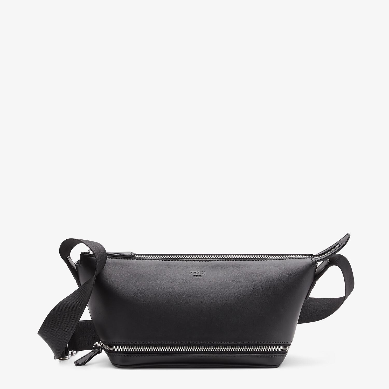 FENDI BELT BAG - Black leather belt bag - view 2 detail