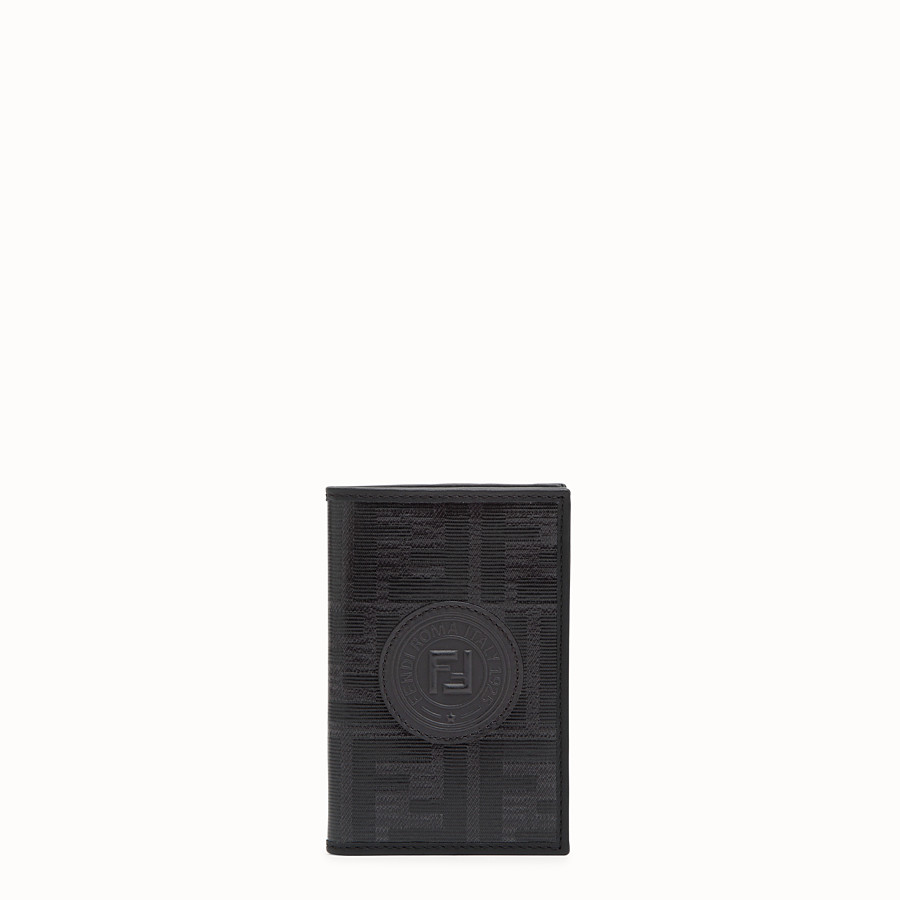 FENDI CARD HOLDER - Black fabric wallet - view 1 detail
