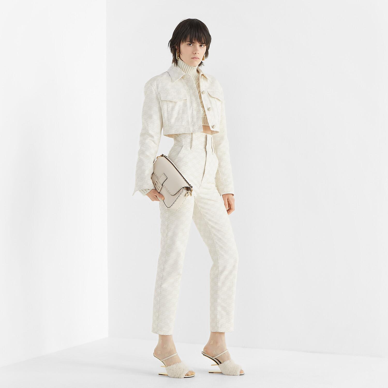 FENDI TROUSERS - White denim trousers - view 4 detail