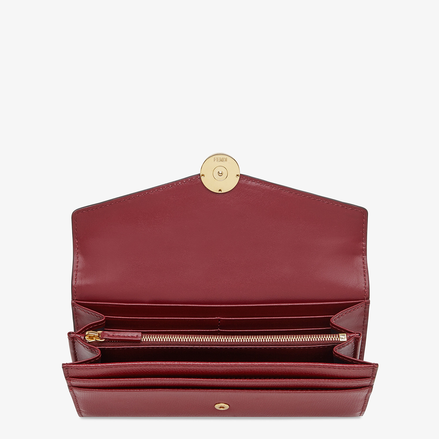 FENDI CONTINENTAL - Burgundy leather wallet - view 3 detail