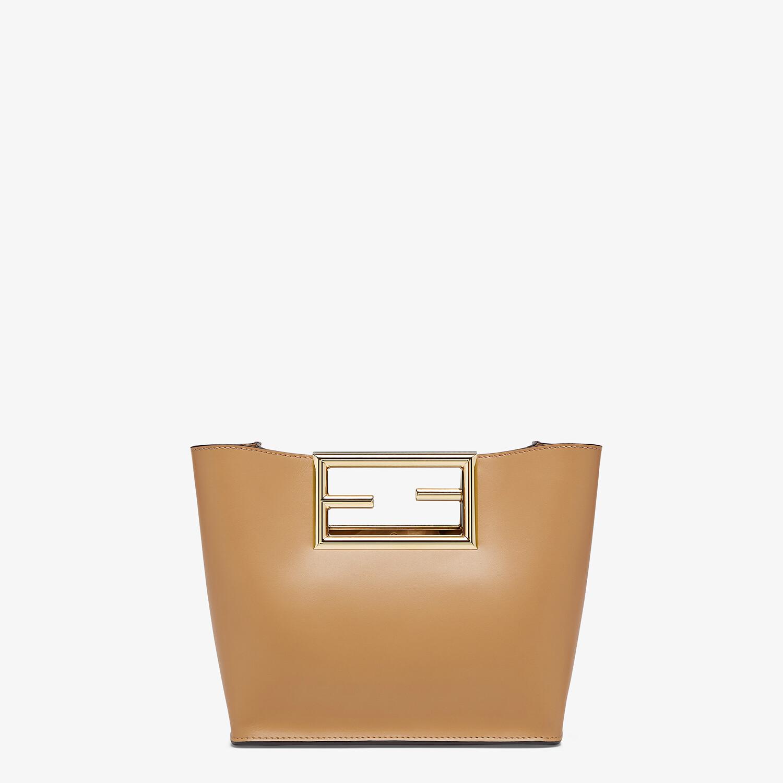 FENDI FENDI WAY SMALL - Beige leather bag - view 3 detail