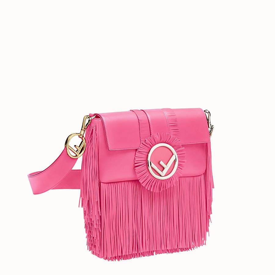 FENDI BAGUETTE - Pink leather bag - view 2 detail
