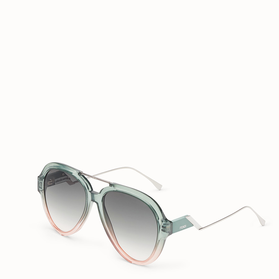 FENDI TROPICAL SHINE - Green and pink sunglasses - view 2 detail