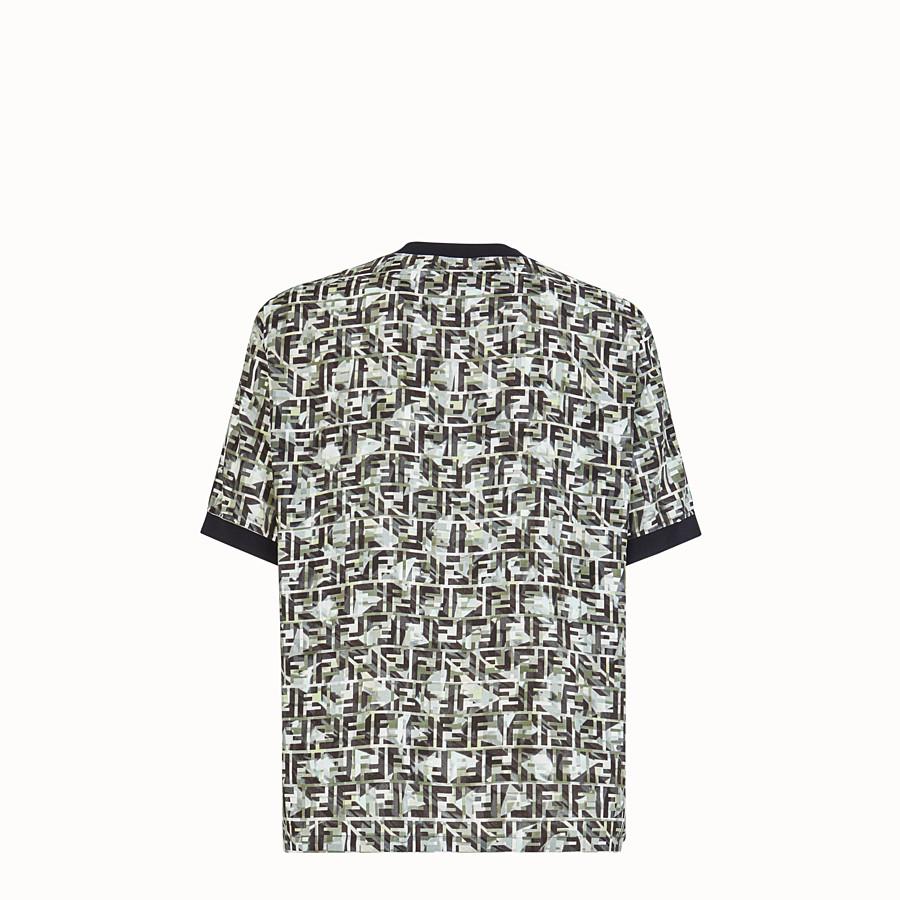 FENDI T-SHIRT - T-shirt in viscosa multicolor - vista 2 dettaglio