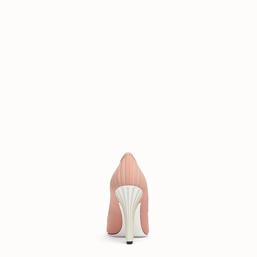 FENDI COURT SHOES - Pink fabric court shoes - view 3 detail