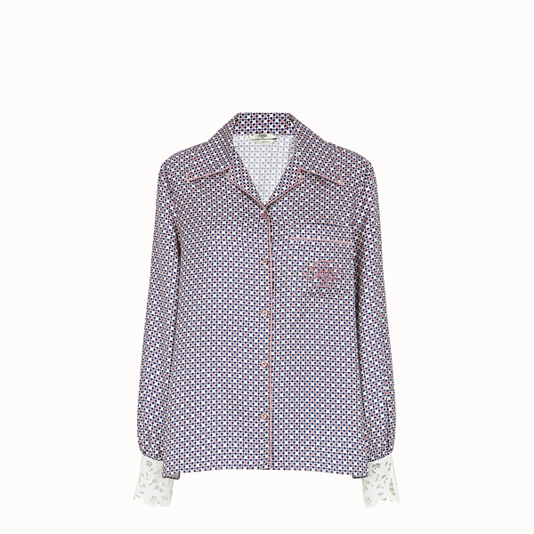 FENDI SHIRT - Multicolour silk shirt - view 1 small thumbnail