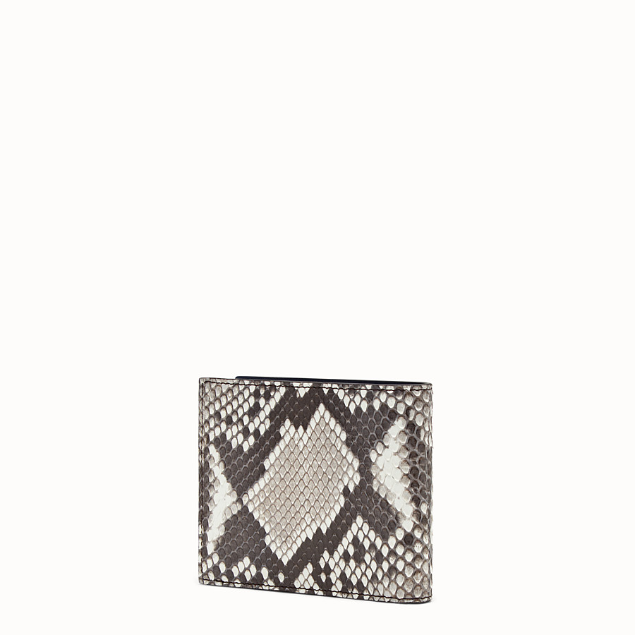 FENDI WALLET - White python bi-fold wallet - view 2 detail