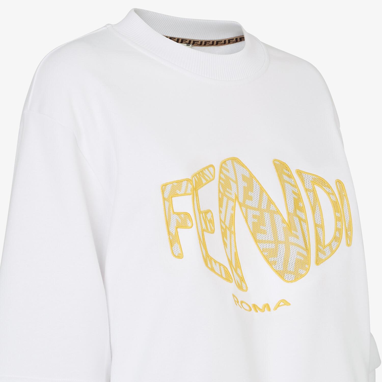 FENDI SWEATSHIRT - White jersey sweatshirt - view 3 detail