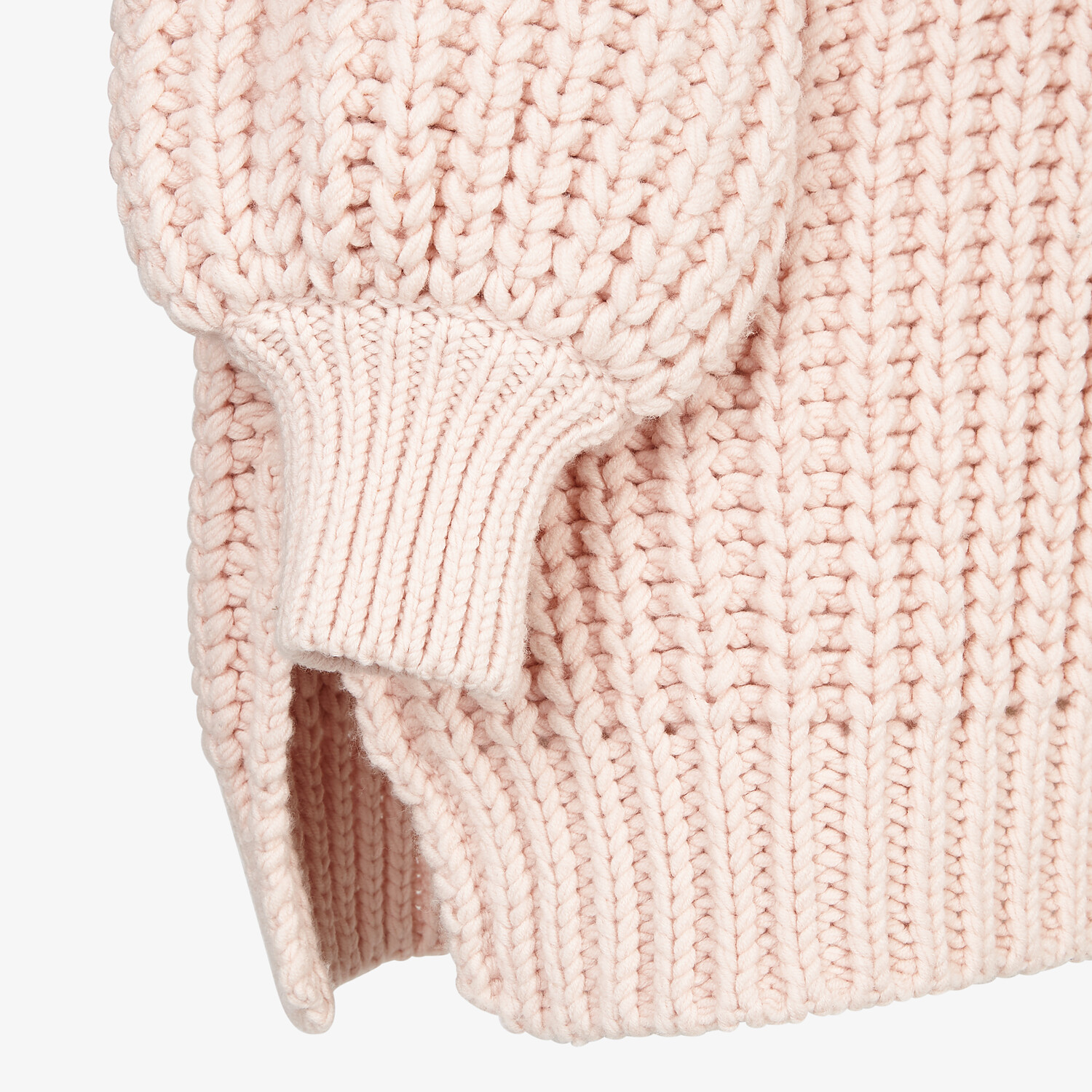 FENDI SWEATER - Pink wool sweater - view 3 detail