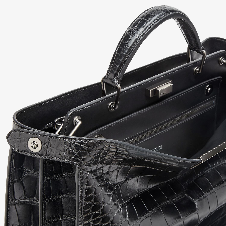 FENDI PEEKABOO ISEEU MEDIUM - Black alligator bag - view 6 detail