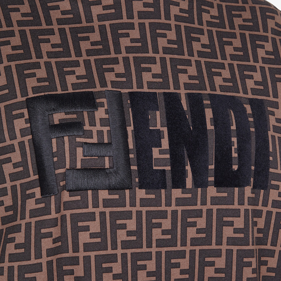 FENDI SWEATSHIRT - Brown jersey sweatshirt - view 3 detail