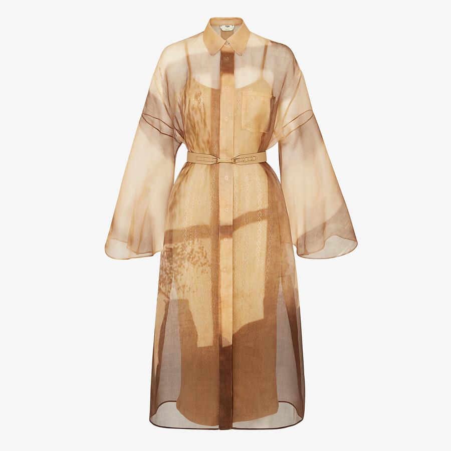 FENDI DRESS - Yellow silk dress - view 1 detail