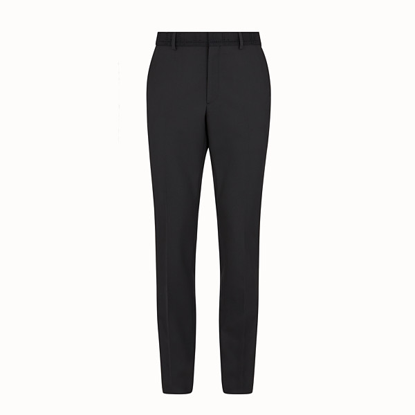 FENDI PANTS - Pants in black tech twill - view 1 small thumbnail