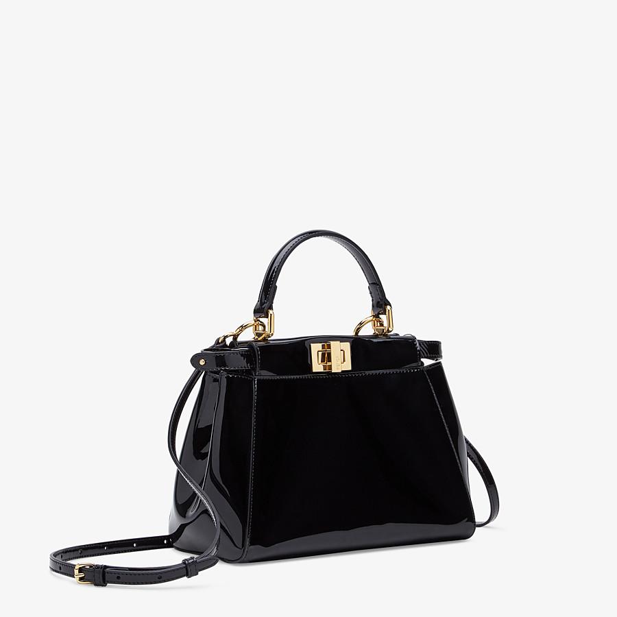FENDI PEEKABOO ICONIC MINI - Black patent leather bag - view 3 detail