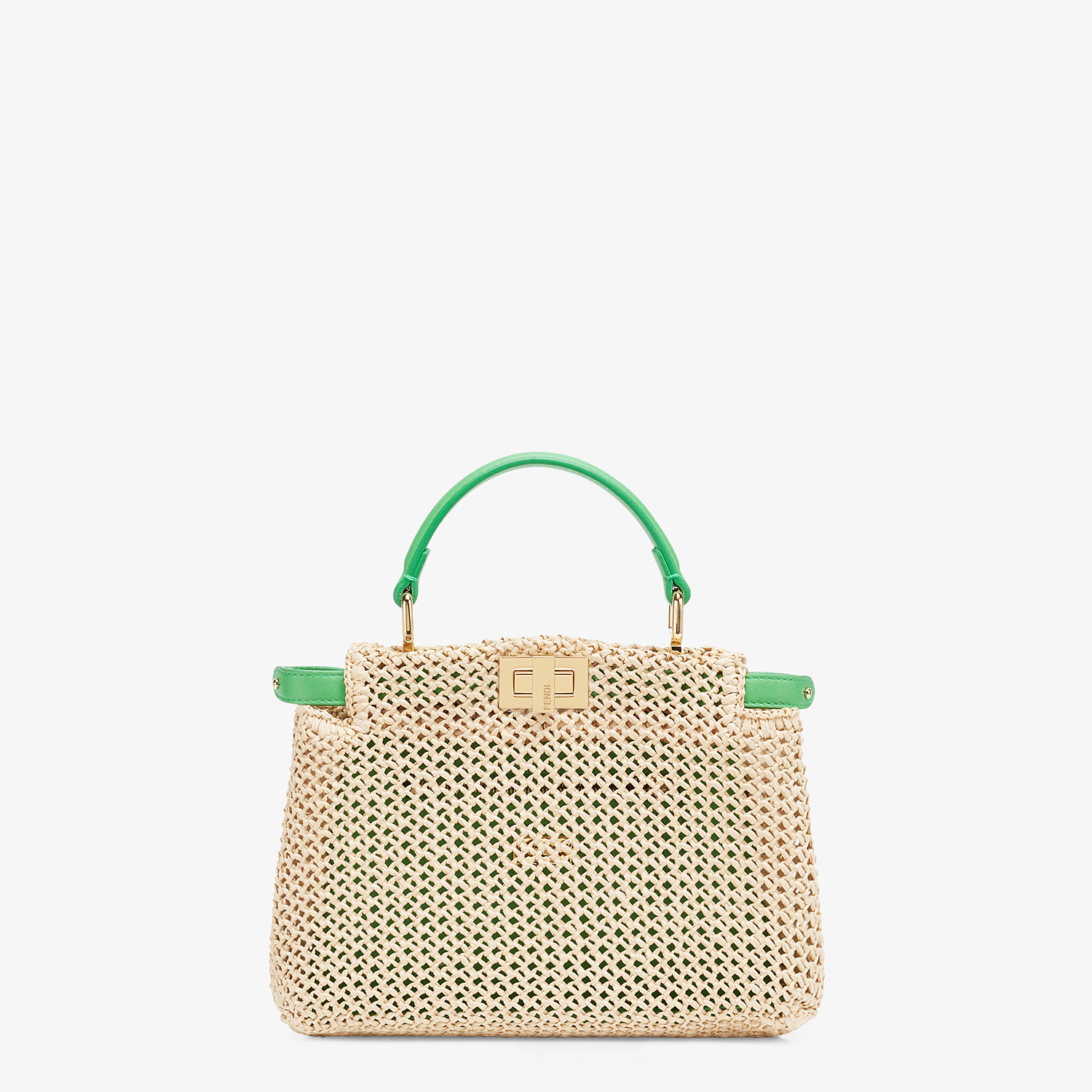 FENDI PEEKABOO ICONIC MINI - Natural raffia bag - view 1 detail