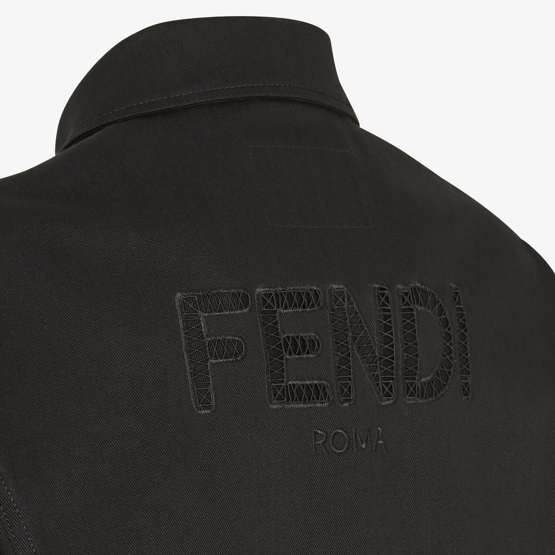 FENDI JACKET - Black canvas jacket - view 3 detail