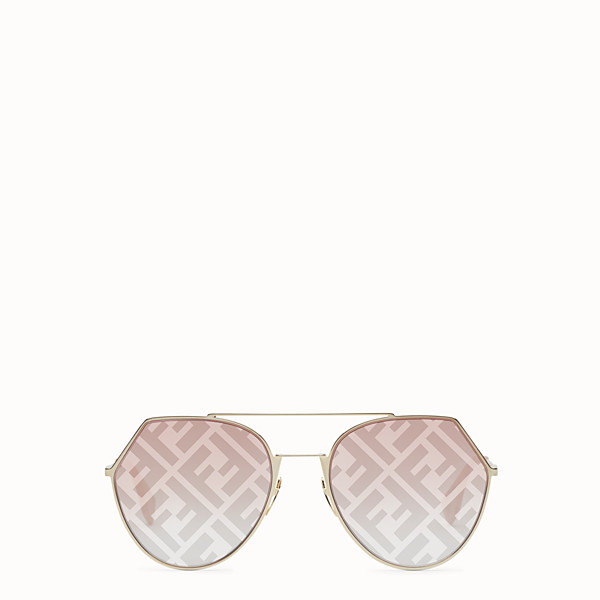 FENDI EYELINE - Gold-colored sunglasses - view 1 small thumbnail