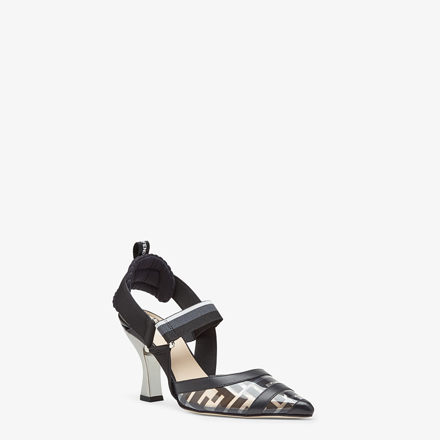 FENDI SLINGBACKS - Colibrì in PU and black leather - view 2 detail
