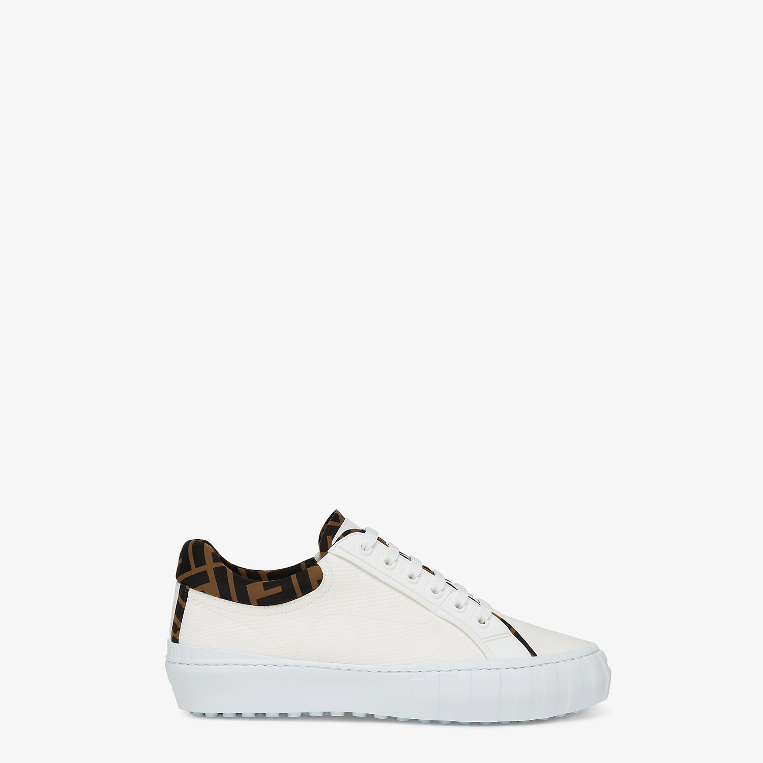 FENDI SNEAKERS - White canvas low-tops - view 1 detail