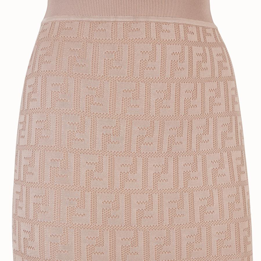 FENDI SKIRT - Beige viscose skirt - view 3 detail