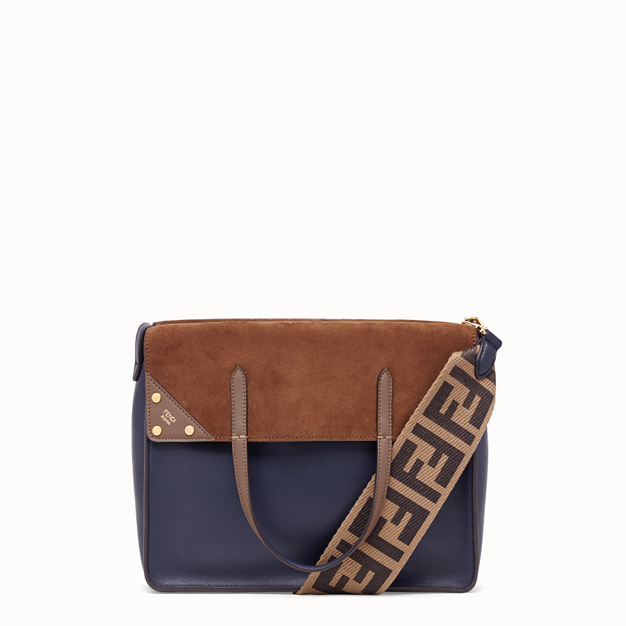 FENDI FENDI FLIP LARGE - Tasche aus Leder in Blau - view 1 detail