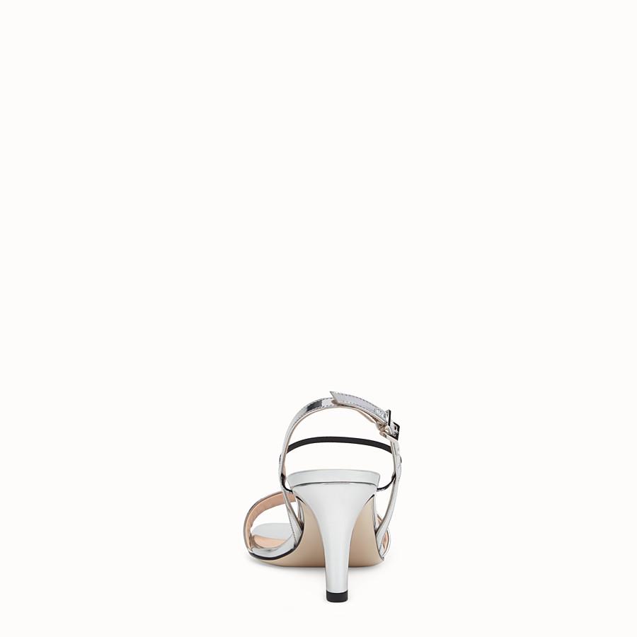 FENDI SANDALO - Sandalo in pelle argento - vista 3 dettaglio