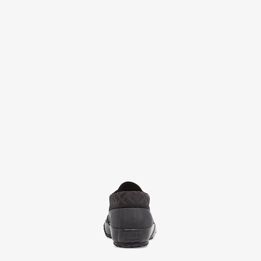 FENDI FENDI AND MOONSTAR SNEAKERS - Low-tops in canvas and black rubber - view 3 detail