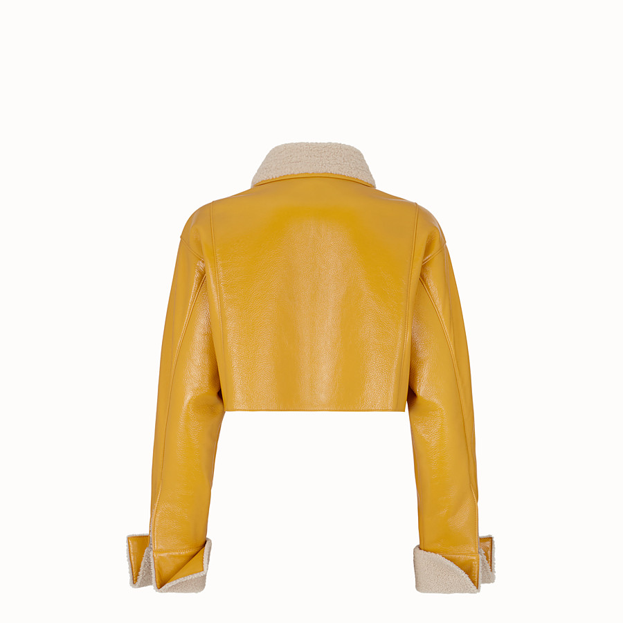 FENDI JACKET - Yellow shearling jacket - view 2 detail