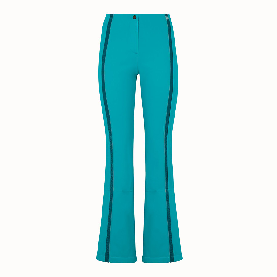 FENDI SKI TROUSERS - Pale blue tech fabric trousers - view 1 detail