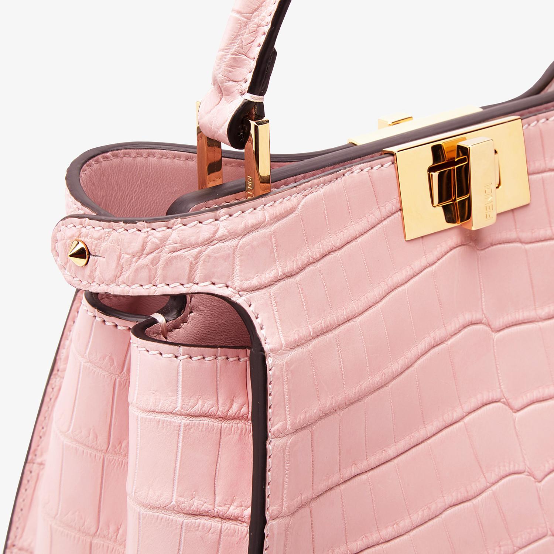FENDI PEEKABOO ICONIC ESSENTIALLY - Pink crocodile bag - view 5 detail