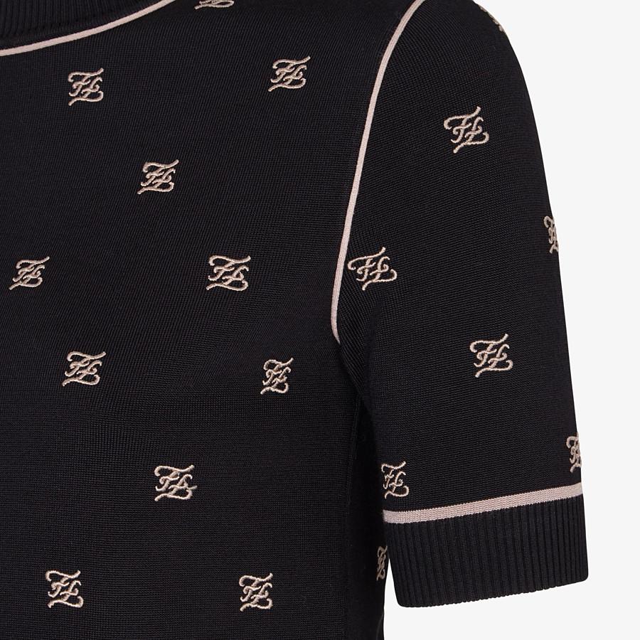 FENDI SWEATER - Black viscose sweater - view 3 detail