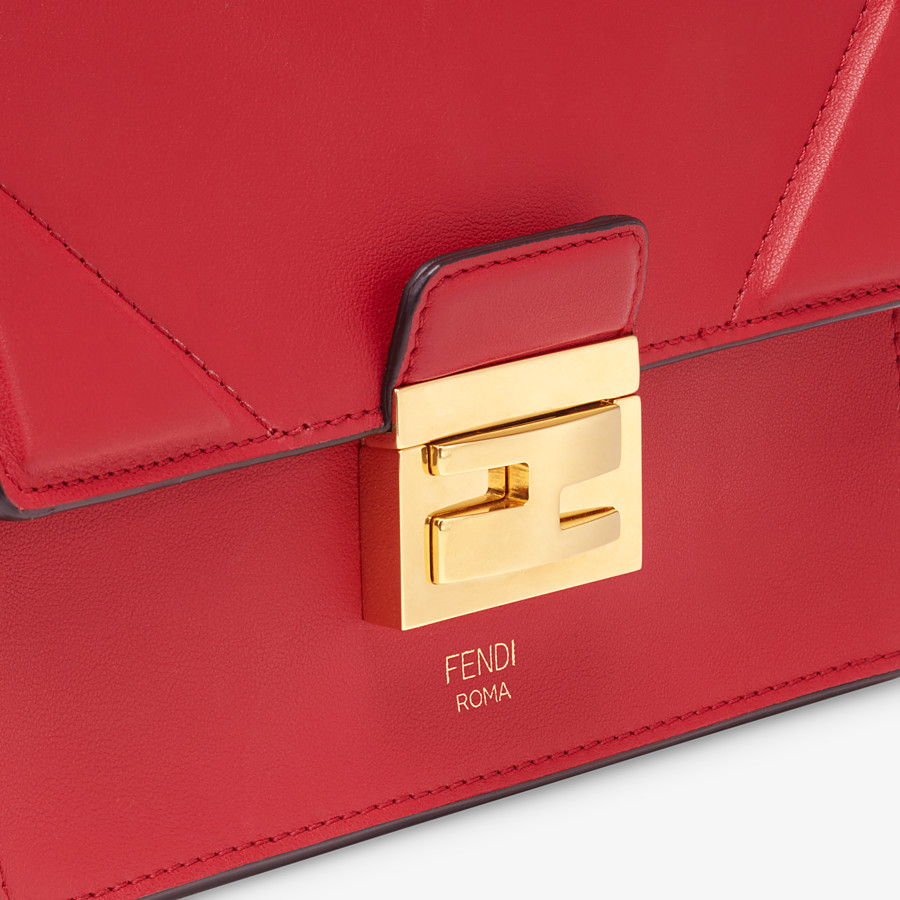 FENDI KAN U SMALL - Red leather mini-bag - view 6 detail
