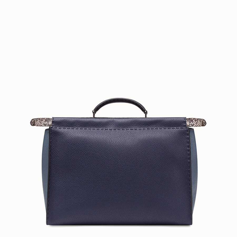FENDI PEEKABOO MEDIUM - Blue Romano leather bag - view 3 detail