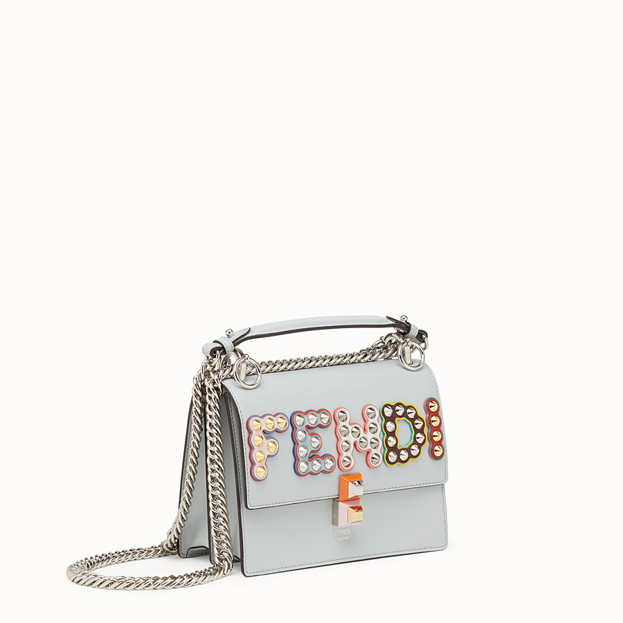 FENDI KAN I SMALL - Grey leather mini-bag - view 2 detail