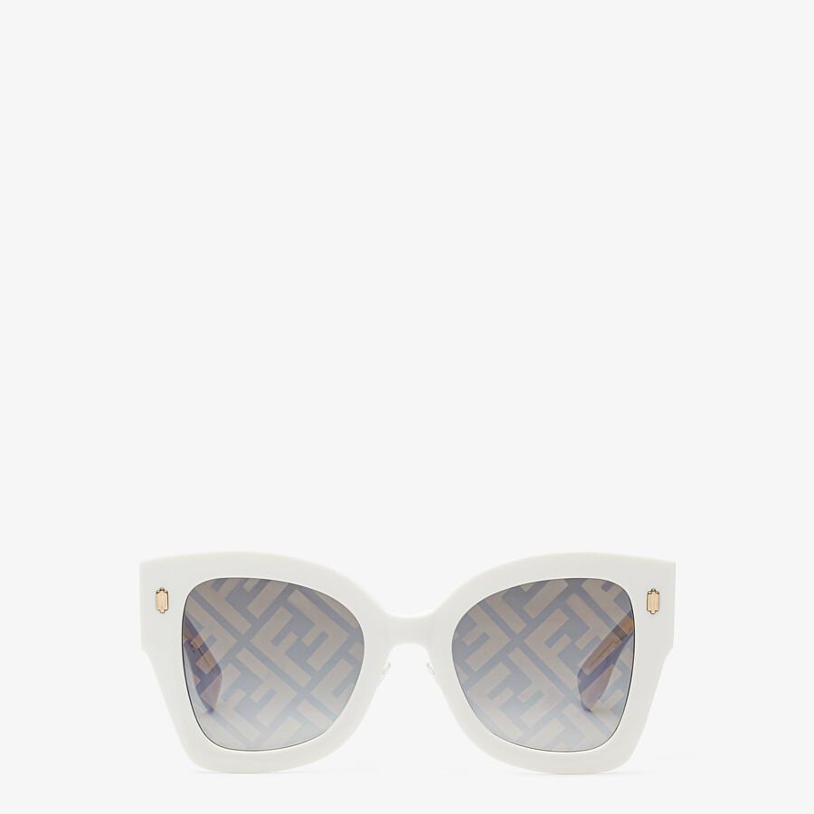FENDI FENDI ROMA - White acetate sunglasses - view 1 detail