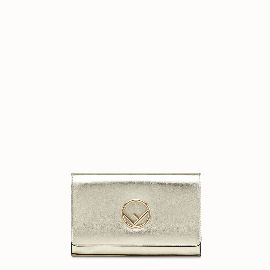 FENDI WALLET ON CHAIN - Champagne leather mini-bag - view 1 detail