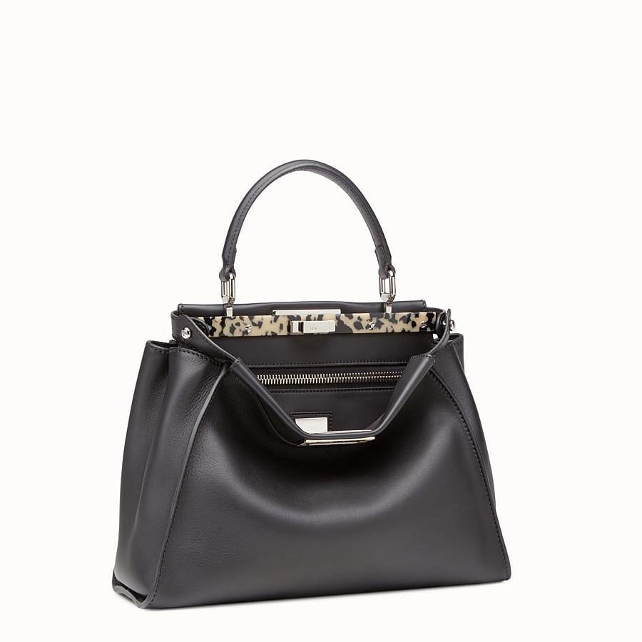 FENDI PEEKABOO REGULAR - Black leather handbag - view 2 detail