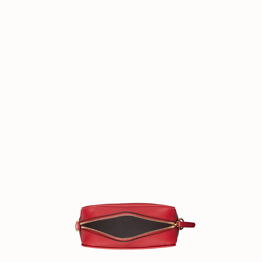 FENDI MINI CAMERA CASE - Red leather bag - view 4 detail