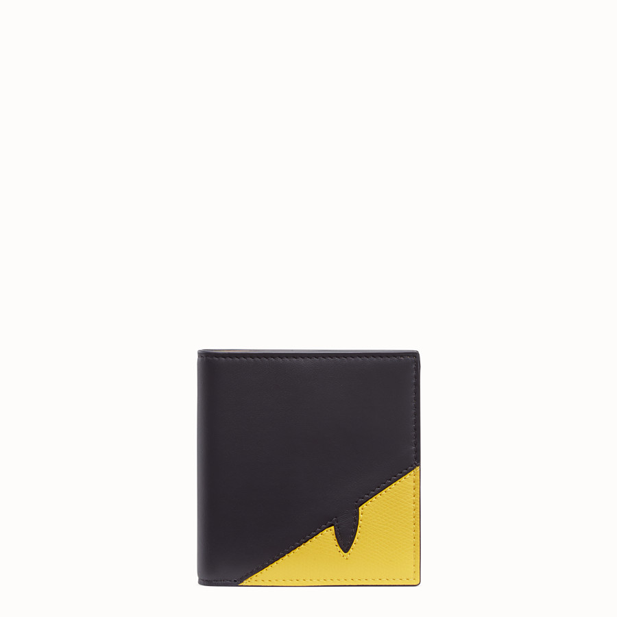 FENDI WALLET - Black calfskin bi-fold wallet - view 1 detail