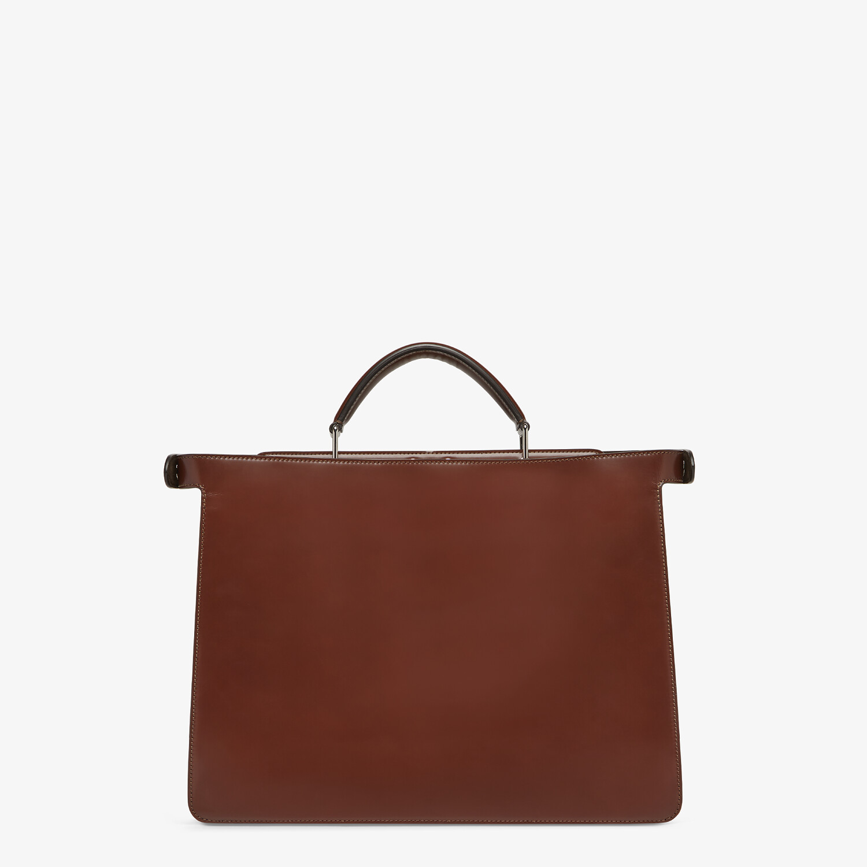 FENDI PEEKABOO ISEEU MEDIUM - Brown leather bag - view 4 detail
