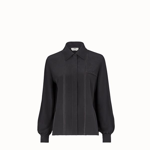 FENDI SHIRT - Black crêpe de Chine shirt - view 1 small thumbnail