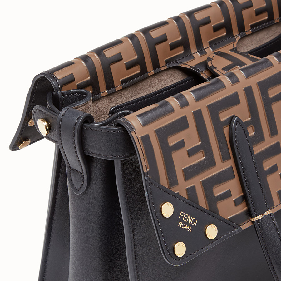 FENDI FENDI FLIP REGULAR - Black leather bag - view 7 detail