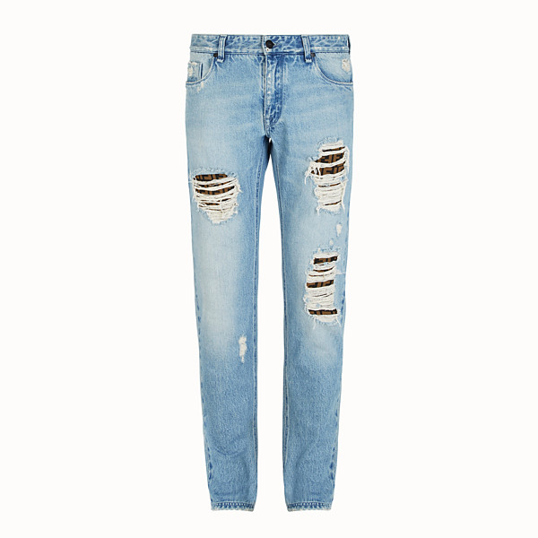 FENDI DENIM - Blue denim jeans - view 1 small thumbnail