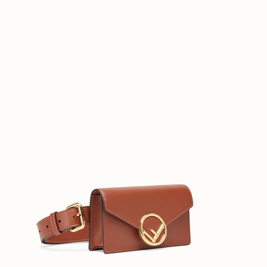 FENDI BELT BAG - Brown leather belt bag - view 2 detail